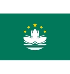 Flag of Macau in correct size and colors vector image
