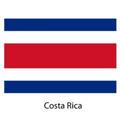 Flag of the country costa rica vector image