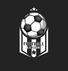 Football logo design template vector