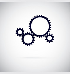 gears on a white background working gear vector image