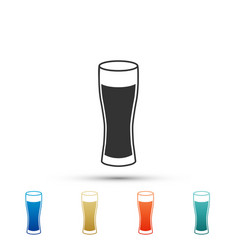 glass of beer icon isolated on white background vector image