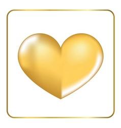 Gold heart 3D 3 vector