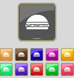 Hamburger icon sign Set with eleven colored vector