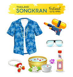 happy songkran day thailand collections isolated vector image