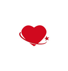 Heart circle holding with star logo design vector