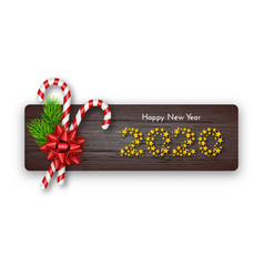 holiday gift card happy new year 2020 numbers of vector image