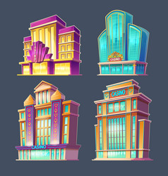icons of casino buildings vector image