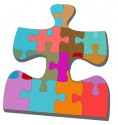 Jigsaw pieces vector