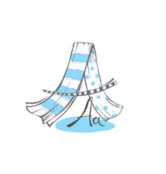 Letter a stylized alphabet light textile vector