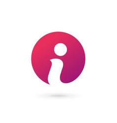 Letter i info logo icon design template elements vector