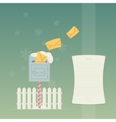 Letterbox and fence vector