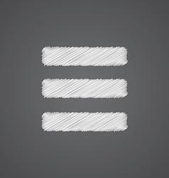 List sketch logo doodle icon vector
