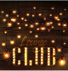 Lounge club glowing lights vector