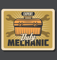 mechanic services for car repairment poster vector image