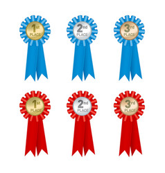 medal badge rank vector image
