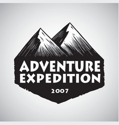 mountain sport adventure camping logo design vector image