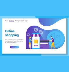 online shopping lp template vector image