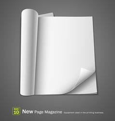 Open new page magazine vector