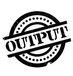Output rubber stamp vector