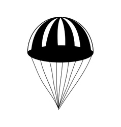 Parachute simple icon image vector