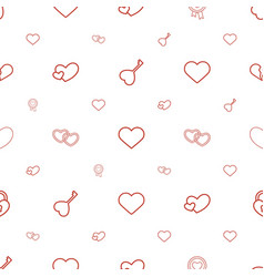 passion icons pattern seamless white background vector image