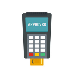 Payment approved credit card icon flat style vector