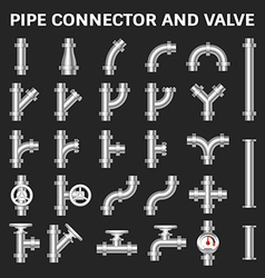 Pipe connector icon vector