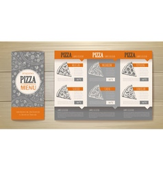 Pizza concept design corporate identity vector