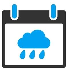 Rain Cloud Calendar Day Toolbar Icon vector