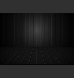 realistic black wood wall and floor room vector image