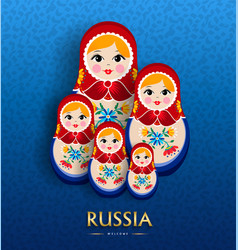 Russian nesting doll poster for russia travel vector