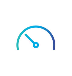 Speedometer gauge line icon outline sign linear vector