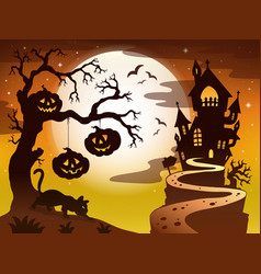 Spooky tree topic image 3 vector