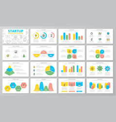 startup and business presentation templates vector image