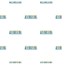 Tennis scoreboard pattern flat vector