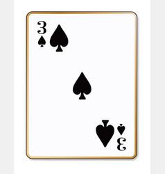 three spades vector image