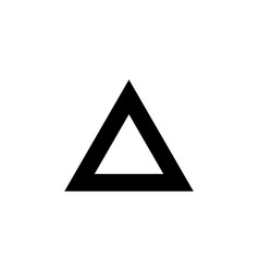 triangle icon black on white vector image