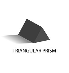 Triangular prism geometric figure in black color vector