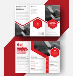 Triple folding brochure for business vector