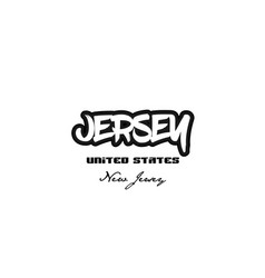 United states jersey new jersey city graffitti vector