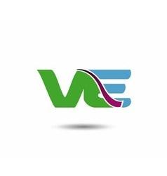 VE logo vector image