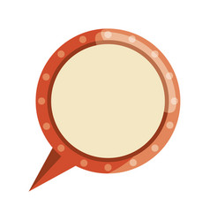 Vintage bubble chat vector