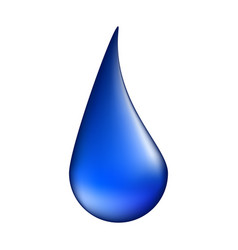 water drop symbol icon design isolated on white vector image