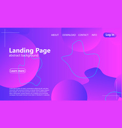 website landing page fluid background vector image