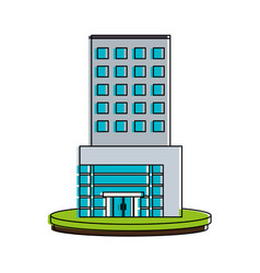 white big city building icon image vector image
