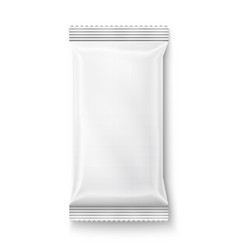 White wet wipes package vector