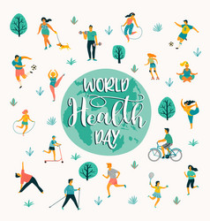 world health day of people vector image