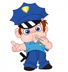 Young policeman vector