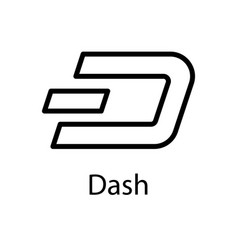 dash icon for internet money crypto currency vector image vector image