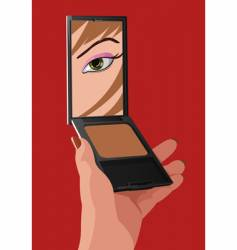 girl with mirror vector image